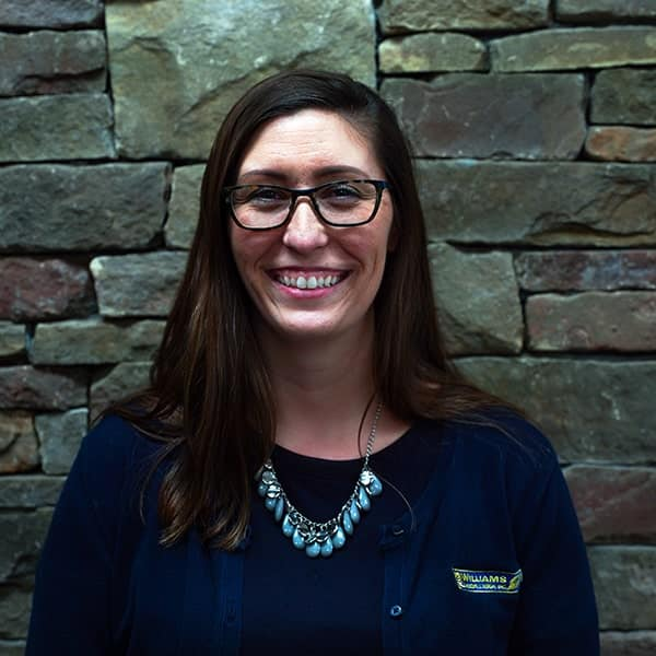 Kim Keeter, office manager for landscaping contractor Williams